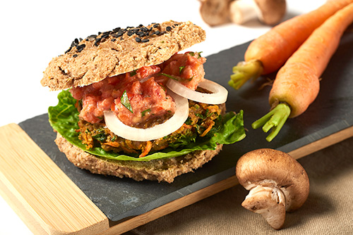 Rohkost-Burger
