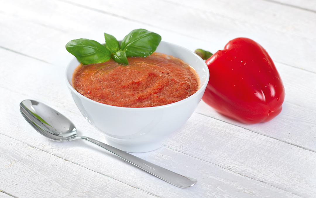 Rote Paprika-Suppe