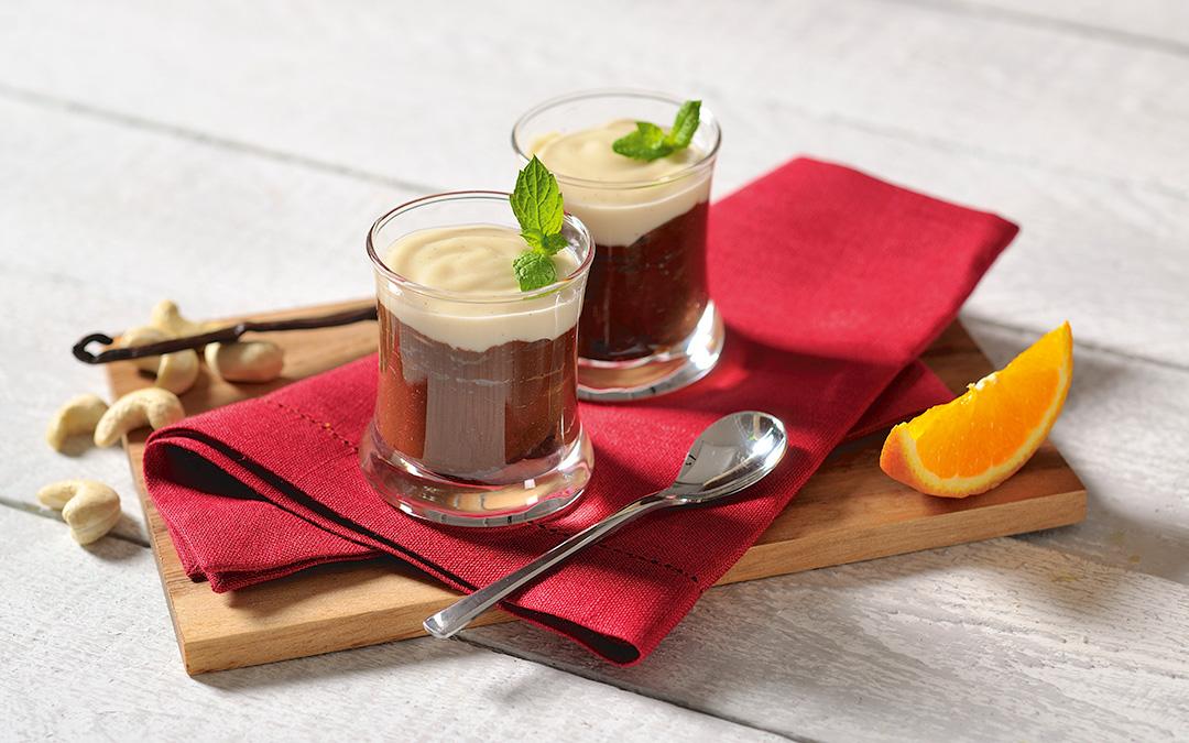 Schoko-Mousse mit Vanille Soße