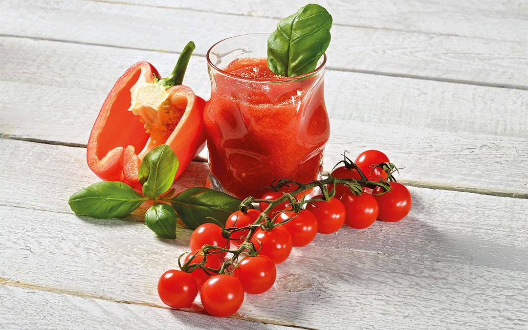 Tomaten-Basilikum-Saft
