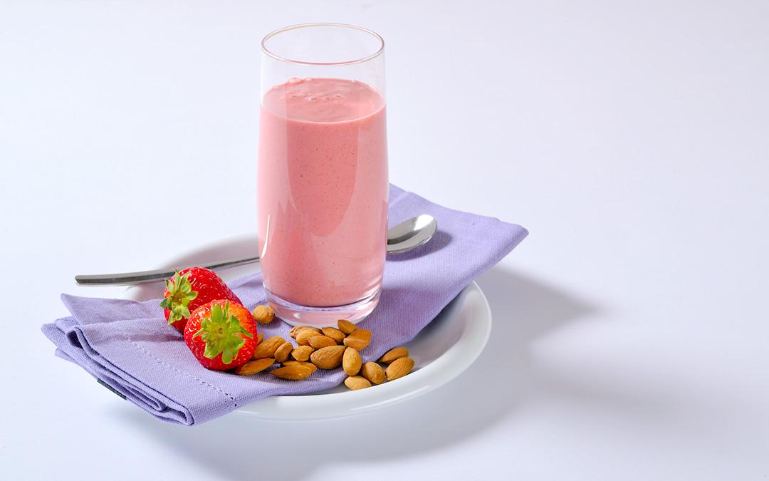 Erdbeer-mandel-Drink