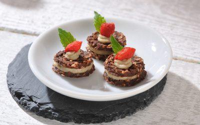 Schokoladentaler mit Vanillecreme