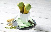Roh-vegane Matcha Eiswaffel