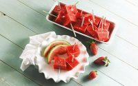 Sommerliches Melonen Sorbet