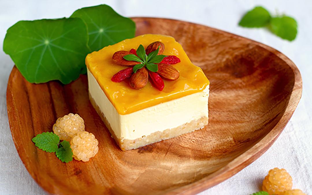 Rohkost Mango Käsekuchen
