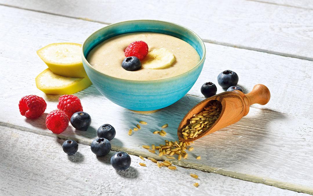 rohkost porridge zubereitet im vegan star vital das ideale fr hst ck. Black Bedroom Furniture Sets. Home Design Ideas
