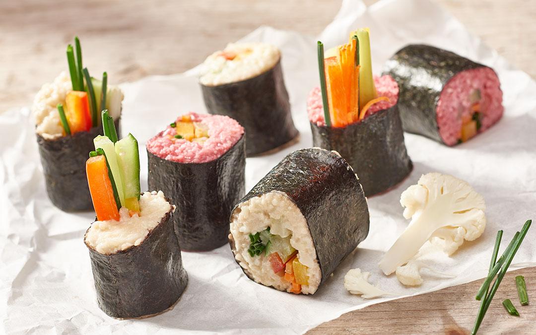 Veganes Gemüse Sushi in Rohkost Qualität – DAS hast du schon  lange vermisst!