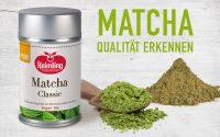Matcha Pulver Qualität erkennen