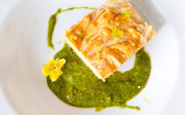 Jackfrucht Mango Creme Schnitte mit Pistazien-Minz Pesto von Boris Lauser