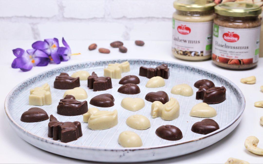 Oster-Figuren aus Weißer & Nougat Schokolade von Angela Griem